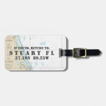 Nautical Chart Latitude Longitude: Stuart, Florida Luggage Tag