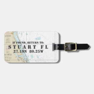 Nautical Chart Latitude Longitude: Stuart, Florida Luggage Tag