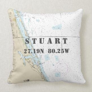 Nautical Chart Latitude Longitude: Stuart, Florida