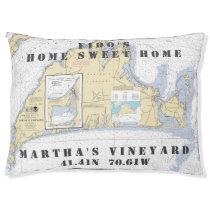 Nautical Chart Martha's Vineyard Pet's Name Pet Bed