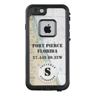 Nautical Chart Monogram Fort Pierce Florida LifeProof FRĒ iPhone 6/6s Case