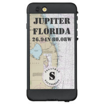 Nautical Chart Monogram Jupiter Florida LifeProof NÜÜD iPhone 6 Plus Case