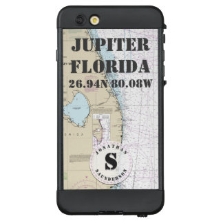 Nautical Chart Monogram Jupiter Florida LifeProof® NÜÜD® iPhone 6 Plus Case