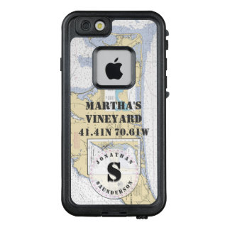 Nautical Chart Monogram Martha's Vineyard LifeProof FRĒ iPhone 6/6s Case