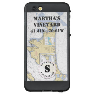 Nautical Chart Monogram Martha's Vineyard LifeProof NÜÜD iPhone 6 Plus Case
