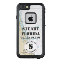 Nautical Chart Monogram Stuart Florida LifeProof FRĒ iPhone 6/6s Case