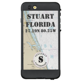 Nautical Chart Monogram Stuart Florida LifeProof NÜÜD iPhone 6 Plus Case