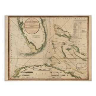 Nautical Chart of the Gulf of Florida