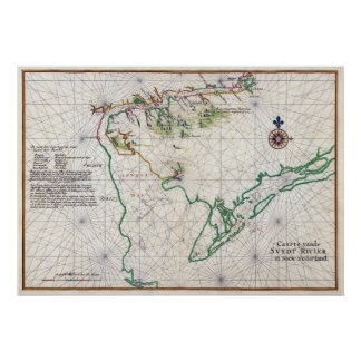 Nautical Chart of Zwaanendael and Delaware Bay Poster