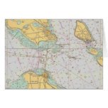 Nautical Chart - Straits of Mackinac - Note Card