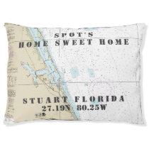Nautical Chart Stuart Florida Pet's Name Pet Bed