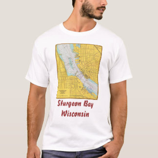 Nautical Chart T-shirt Sturgeon Bay Wisc...