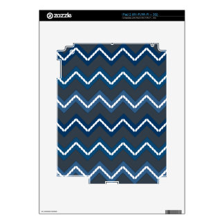 Nautical Chevron Fade on Gray Decal For The iPad 2