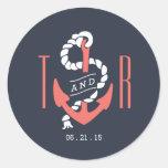 Nautical Chic Favor Sticker / Envelope Seal