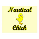 Nautical Chick Postcard