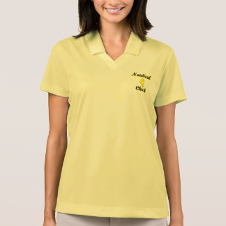 Nautical Chick Polo T-shirts