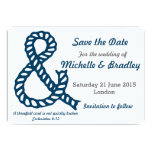 Nautical Christian Wedding Save the Date Card