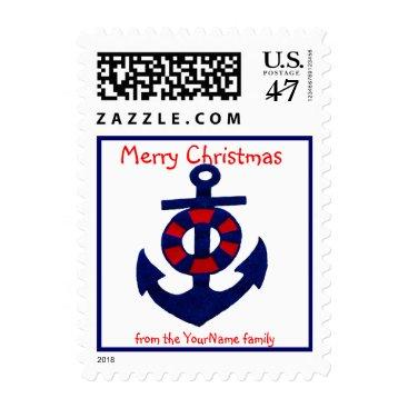 Christmas Themed Nautical Christmas Anchor Postage