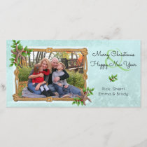 Nautical Christmas on the Coast Starfish Splash Holiday Card