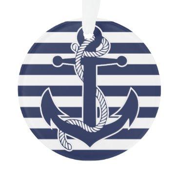 Christmas Themed Nautical Christmas Ornament Blue Acrylic Anchor
