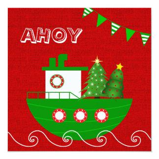 Nautical Christmas Party Invitation