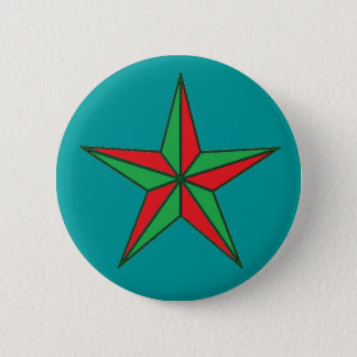 Nautical Christmas Star Button