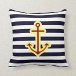 Nautical Classic Anchor Throw Pillow