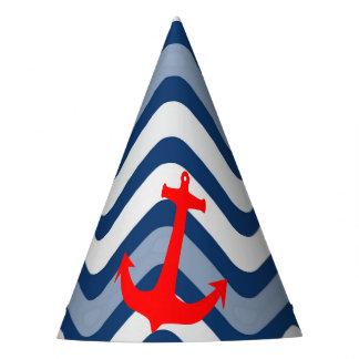 Nautical coastal beach ocean anchor paper hat