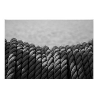 Nautical Coil (Black & White) Print