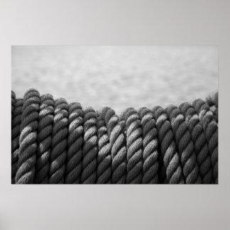 Nautical Coil (Black & White) Poster