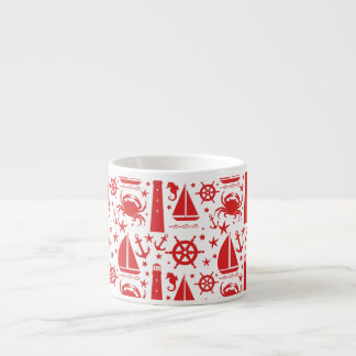 Nautical Collage in Red Espresso Cup
