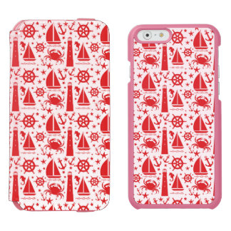 Nautical Collage in Red iPhone 6/6s Wallet Case