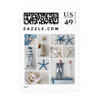 Nautical Collage Postage