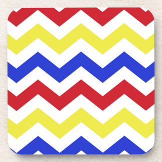 Nautical Colored Zigzag Pattern Coaster