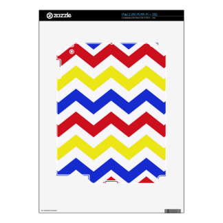 Nautical Colored Zigzag Pattern Skin For iPad 2