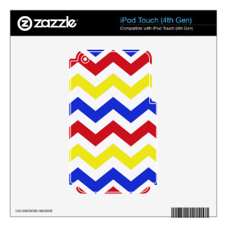 Nautical Colored Zigzag Pattern Skin For iPod Touch 4G