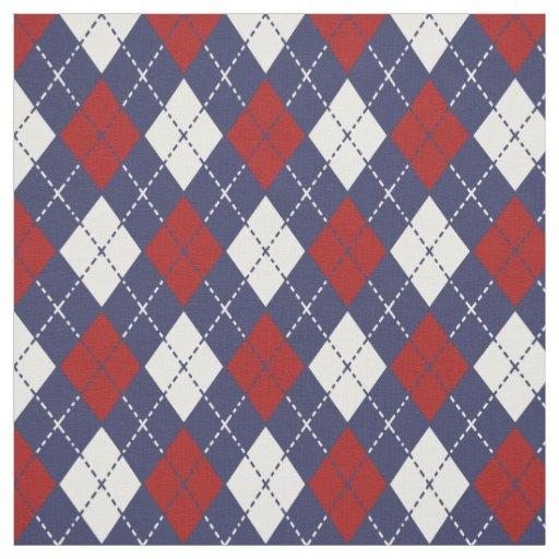 nautical colors argyle pattern fabric zazzle
