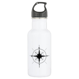 Nautical Compass 18oz Water Bottle
