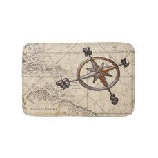Nautical Compass Bathroom Mat