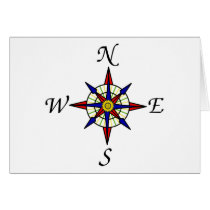 Nautical Compass Card