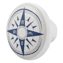 Nautical Compass Ceramic Knobs / Pulls