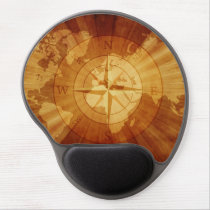 Nautical Compass Globe Gel Mouse Pad