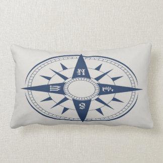Nautical Compass Lumbar Pillow