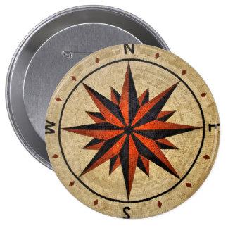 Nautical Compass Mosaic Decor Pins