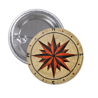 Nautical Compass Mosaic Decor Buttons