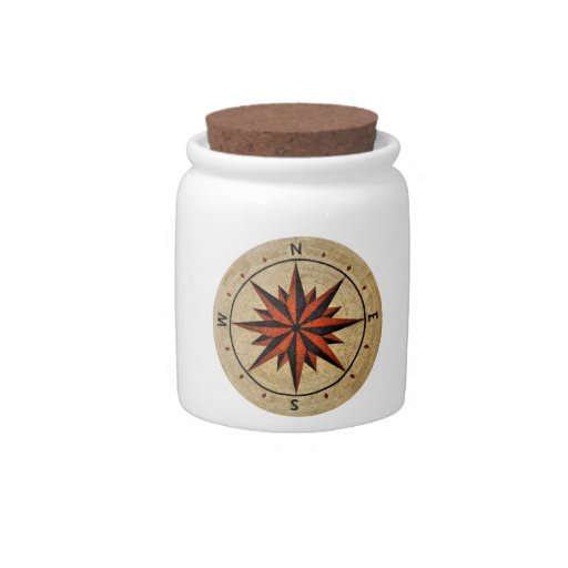 Nautical Compass Mosaic Decor Candy Dishes
