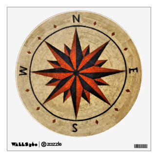 Nautical Compass Mosaic Decor Room Graphic