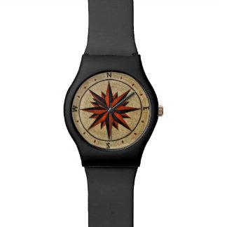 Nautical Compass Mosaic Decor Wrist Watch
