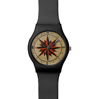 Nautical Compass Mosaic Decor Watches