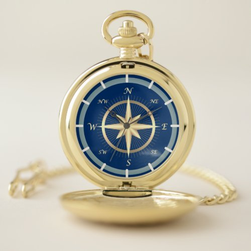 Nautical Compass Pocket Watch